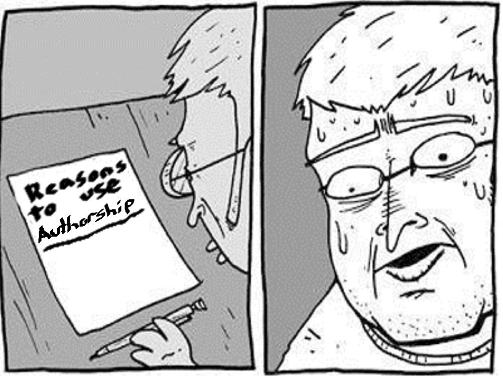 reasons to use authorship comic