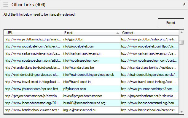 Collecting contact information
