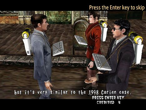Typing of the dead, keyboard on back