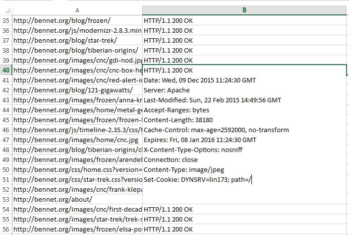 Bulk Inspect http Response Headers | ohgm