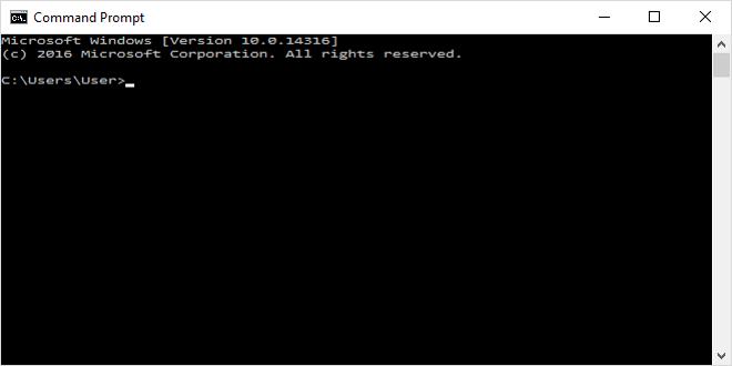 blank-command-line