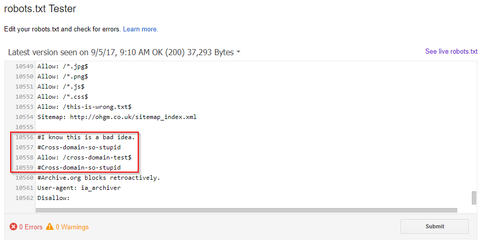 robots txt does not need to live there ohgm